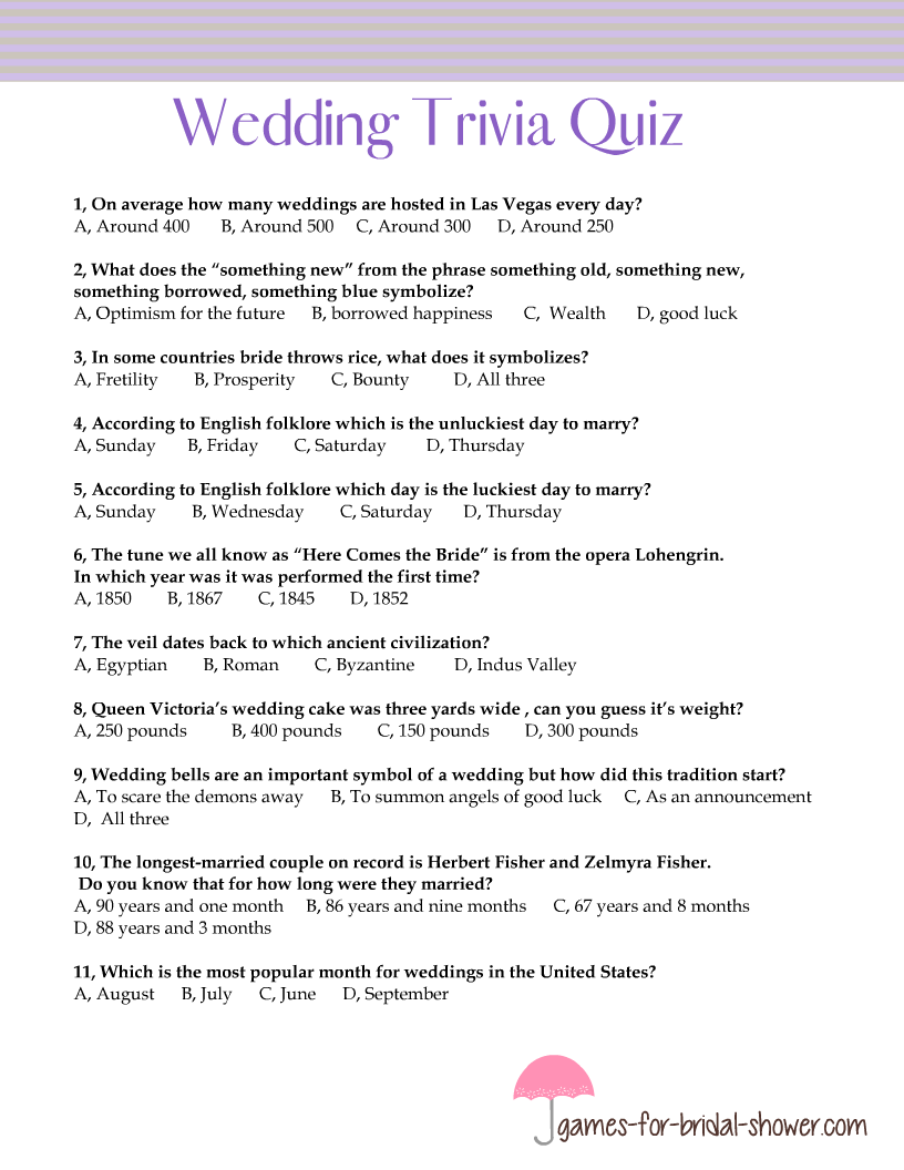 photo about He Popped the Question Printable named Cost-free Printable Marriage Trivia Quiz