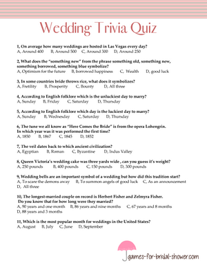 picture regarding Printable Trivia known as Totally free Printable Marriage ceremony Trivia Quiz