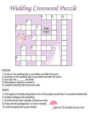 photo about Printable Celebrity Crossword Puzzles known as Totally free Printable Wedding day Crossword Puzzle