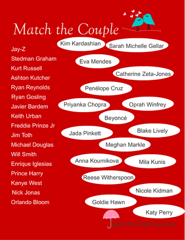 match celebrity couples game