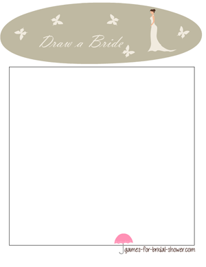 draw a bride game's stationery