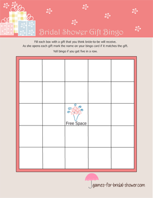 gift bingo game in pink color