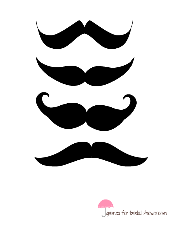 photograph regarding Printable Moustaches referred to as Totally free Printable Pin the Moustache upon the Groom Recreation