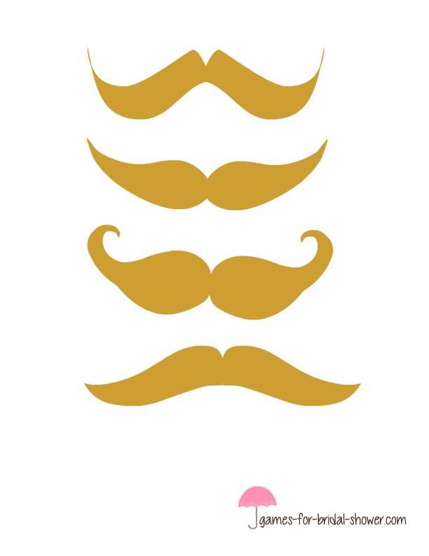 Free Printable Pin The Moustache On The Groom Game
