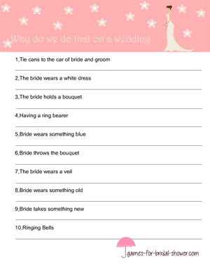 why do we do that on wedding free printable game