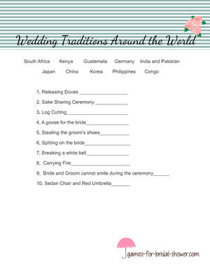Wedding traditions around the world for bridal shower